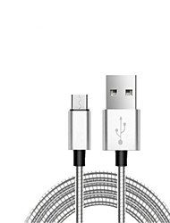 cheap -Micro USB Cable 1.0m(3Ft) High Speed / Gold Plated / Quick Charge Zinc Alloy USB Cable Adapter For Samsung / Huawei / LG