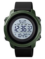 Недорогие -SKMEI Муж. электронные часы Цифровой Спортивные силиконовый Черный / Синий 30 m Защита от влаги Календарь Секундомер Аналоговый На открытом воздухе - Черный Белый Пурпурный / Два года