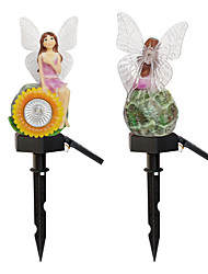 cheap -Solar Sunflower Flower Fairy Romantic Garden Light Outdoor Lighting Lawn Landscape Light LED Lantern Colorful Change  White Light Waterproof 1 set