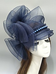 cheap -Imitation Pearl / Net Fascinators / Hats / Headwear with Bowknot / Pearl / Ruching 1 Piece Wedding / Special Occasion Headpiece