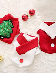 baratos -Cachorros Súeters Inverno Roupas para Cães Branco Verde Vermelho Ocasiões Especiais Flanela Animal Natal Fantasias Natal XS S M L XL XXL