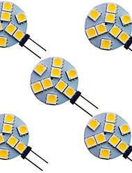 cheap -5pcs 1.5 W LED Bi-pin Lights 120 lm G4 9 LED Beads SMD 5050 Warm White White 12 V
