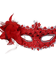 cheap -Venetian Mask Masquerade Mask Feather Mask Inspired by Cosplay Golden Purple Halloween Halloween Carnival Masquerade Adults' Women's Female / Half Mask