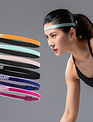 cheap -Headbands for Running Exercise & Fitness Jogging Moisture Wicking Comfortable Durable Men's Women's Cotton / Polyester Silicon 1 Piece Sports & Outdoor Black Sky Blue Purple