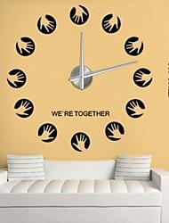 Недорогие -Новый DIY большой 3D зеркало стикер стены домашнего декора большие часы художественные часы