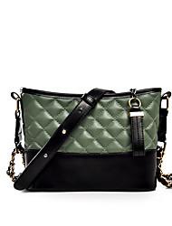 cheap -Women's Embroidery / Chain PU Crossbody Bag Geometric Pattern Black / Brown / Wine