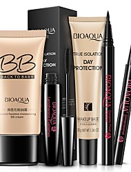 abordables -5 pcs / ensemble Kit de Cosmétique BB Crème Isolant Crème Anti-cernes Crayon À Sourcils Eyeliner Mascara Complet Femmes Maquillage Ensemble