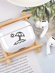 cheap -Case For Apple scene map Air Pods Pro stick figure high transparent PC material Bluetooth headset protective shell JMGD