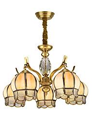 cheap -Lightinthebox 5-Light Empire / Novelty Chandelier Downlight Brass Copper Glass New Design 220-240V