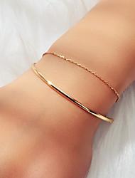 cheap -Women's Bracelet Geometrical U Shape Simple Classic Basic Trendy Elegant Alloy Bracelet Jewelry Gold For Graduation Engagement Gift Daily Holiday