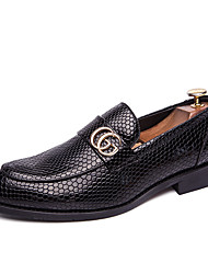 cheap -Men's Formal Shoes PU Spring & Summer / Fall & Winter Casual / British Loafers & Slip-Ons Black / Red / Party & Evening