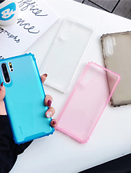 cheap -Case For Huawei Huawei P30 / Huawei P30 Pro / Huawei P30 Lite Shockproof / Ultra-thin Back Cover Solid Colored TPU