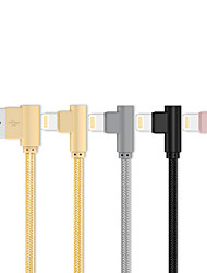 cheap -Lightning Cable 0.2m(0.65Ft) Gold Plated / Quick Charge TPE USB Cable Adapter For iPhone