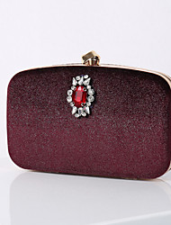 cheap -Women's Bags Polyester Velvet Evening Bag Crystals Chain Solid Colored Chain Bag Wedding Party Wine Black Blue Green