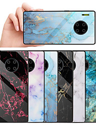cheap -Huawei Mate30 Pro Simple Marble Mobile Phone Case P30 Lite Package Soft Shell Fashion Tempered Glass Glory 20Pro Protective Cover Nova3I Anti-fall Ultra-thin New