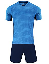 cheap -Men's Soccer Jersey and Shorts Clothing Suit Breathable Quick Dry Soft Team Sports Active Training Football Cotton Adults Teen White Fuchsia Orange / Micro-elastic