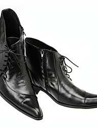 cheap -Men's Fashion Boots Nappa Leather Spring & Summer / Fall & Winter Casual / British Boots Warm Booties / Ankle Boots Black / Party & Evening