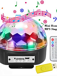 cheap -Led Seven Color Light Bluetooth Speaker KTV Bar Projection Stage Rotating Light Wireless Card Mini Audio