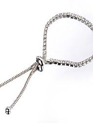 abordables -dames Strass Alliage Rétro Vintage Elégant Couleur Pleine / bracelet