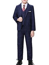 cheap -Dark Navy / Gray Polyester Ring Bearer Suit - 1 Piece Includes  Coat / Vest / Pants