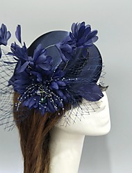 cheap -Tulle / Net Fascinators / Hats / Headwear with Imitation Pearl / Flower / Crystals / Rhinestones 1 Piece Wedding / Special Occasion Headpiece