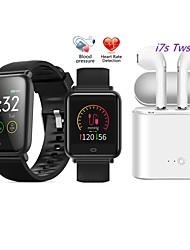 Недорогие -q9 smartwatch bt фитнес-трекер с поддержкой беспроводных наушников tws для измерения частоты пульса / артериального давления спортивные умные часы для телефонов samsung / iphone / android