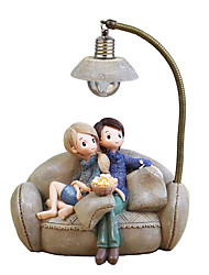 cheap -Couple Character Ornaments With LED Light Staycation Resin Crafts for Home Garden Decor Creative Boys and Girls Night Lamp 1pc
