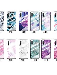 cheap -Case For Xiaomi Xiaomi Redmi 7 / Redmi Note 7 / Redmi K20 Pattern Back Cover Marble Tempered Glass