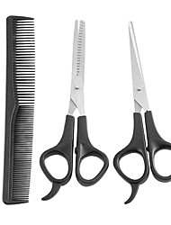 cheap -3 Pieces Hair Tools Stainless Steel Scissors with Comb Cutting Shears Salon Barber Hair Cutting Hairdressing Set