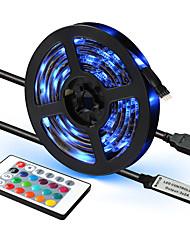 cheap -1pcs LED Strip Light USB 5050SMD DC5V Flexible LED Lamp Tape RGB 0.5M TV Desktop Screen BackLight Diode Tape with 24K Remote
