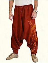 cheap -Men's Sporty Harem Pants - Solid Colored Black Blue Red US34 / UK34 / EU42 US36 / UK36 / EU44 US38 / UK38 / EU46