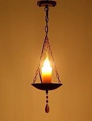 Недорогие -QIHengZhaoMing 16 cm Подвесные лампы Металл Винтаж 110-120Вольт / 220-240Вольт