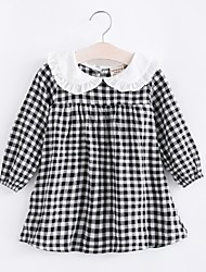 cheap -Kids Girls' Plaid Dress Black