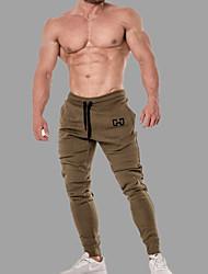 cheap -Men's Sporty / Basic Jogger / Sweatpants Pants - Solid Colored / Geometric Pattern Sporty / Patchwork Black Army Green Red US34 / UK34 / EU42 US36 / UK36 / EU44 US38 / UK38 / EU46