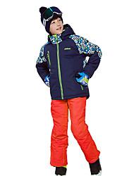 cheap -MARSNOW® Boys' Girls' Ski Jacket with Pants Camping / Hiking Winter Sports Waterproof Windproof Warm 100% Cotton Chenille Clothing Suit Ski Wear