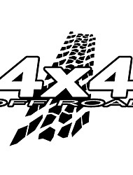 cheap -2pcs New Personality 4X4 OFF-ROAD Reflective Vinyl Decals Car Sticker Car-styling Black White Color