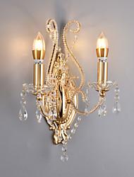 cheap -QINGMING® Crystal / New Design Traditional / Classic / Modern Flush Mount wall Lights Living Room / Bedroom Metal Wall Light 110-120V / 220-240V 40 W