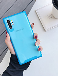 cheap -Case For Samsung Galaxy Samsung Galaxy A70(2019) / Samsung Galaxy A80 / Galaxy Note 10 Shockproof Back Cover Solid Colored TPU A10s A20s A60 Note10pro