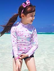 abordables -Enfants Fille Imprimé Maillot de Bain Bleu clair