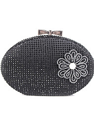 cheap -Women's Chain Alloy Evening Bag Floral Print Black / Gold / Silver