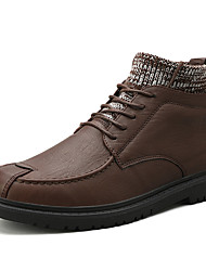 cheap -Men's Combat Boots Synthetics Fall & Winter Casual / British Boots Non-slipping Booties / Ankle Boots Black / Brown
