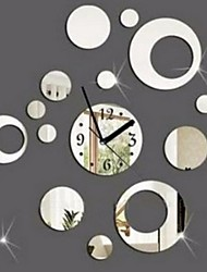 cheap -Modern Contemporary Acrylic Square Indoor Battery Decoration Wall Clock Mirror Polished No
