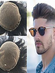 Недорогие -Муж. Натуральные волосы Накладки для мужчин Прямой Полностью ленточные Лучшее качество / новый / Горячая распродажа / Природные волосы