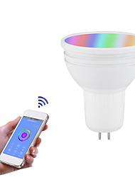 cheap -1pc 6 W LED Smart Bulbs 1000 lm GU10 GU5.3 B22 21 LED Beads APP Control Smart Timing RGB+Cold&Warm White 85-265 V