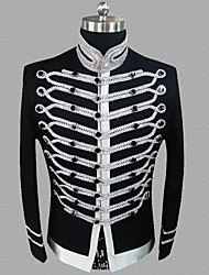 cheap -Prince Victorian Steampunk Napoleon Jacket Winter Suits & Blazers Men's Costume Black / White Vintage Cosplay Party Halloween Long Sleeve / Coat
