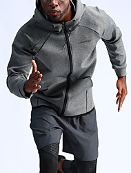 cheap -UABRAV Men's Full Zip Track Jacket Running Jacket Hooded Running Fitness Jogging Windproof Breathable Soft Sportswear Jacket Long Sleeve Activewear Stretchy