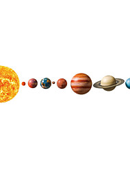cheap -Planets in The Solar System Decorative Wall Stickers - Landscape Wall Stickers Abstract / Landscape Nursery / Kids Room / Indoor