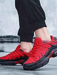 baratos -Homens Sapatos Confortáveis Com Transparência Primavera Verão / Outono & inverno Esportivo Tênis Corrida / Caminhada Respirável Preto / Preto / Vermelho / Preto / verde