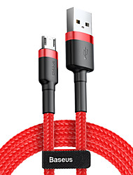 cheap -Baseus cafule Cable USB For Micro 2.4A 1M RedRed