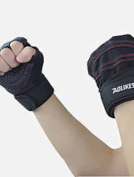 cheap -AOLIKES Workout Gloves Weight Lifting Gloves Sports Cloth Mesh Exercise & Fitness Weightlifting Boxing Training Built-In Wrist Wraps Durable Wrist Support Full Palm Protection & Extra Grip Breathable